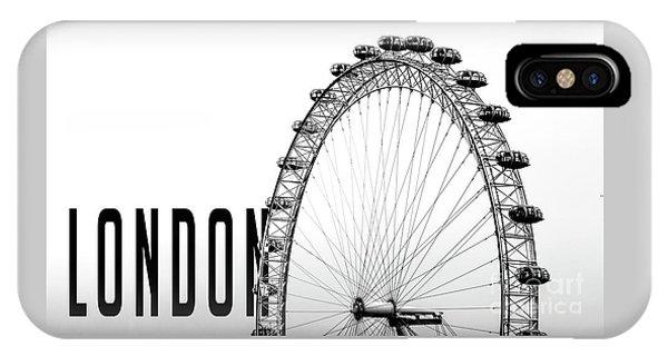 London Eye iPhone Case - The London Eye by Edward Fielding