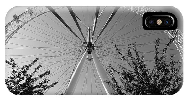 The London Eye  Monotone IPhone Case