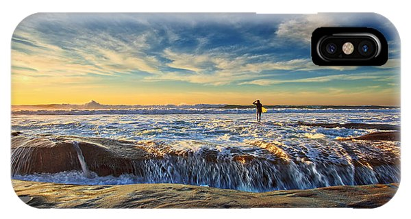 The Lone Surfer IPhone Case