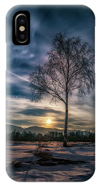 The Lonely Birch IPhone Case
