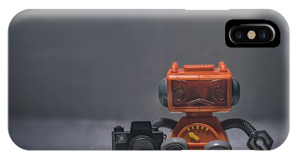 Armed iPhone Case - The Lonely Robot Photographer by Scott Norris