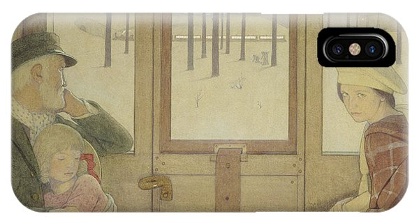 1862 iPhone Case - The Long Journey by Frederick Cayley Robinson