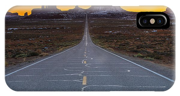Long Exposure iPhone Case - The Long Road To Monument Valley by Larry Marshall