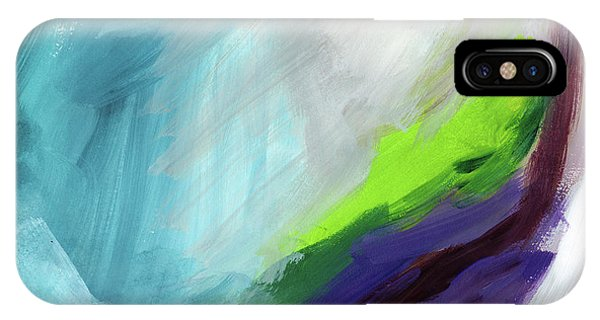 Grey Skies iPhone Case - The Long Walk- Art By Linda Woods by Linda Woods