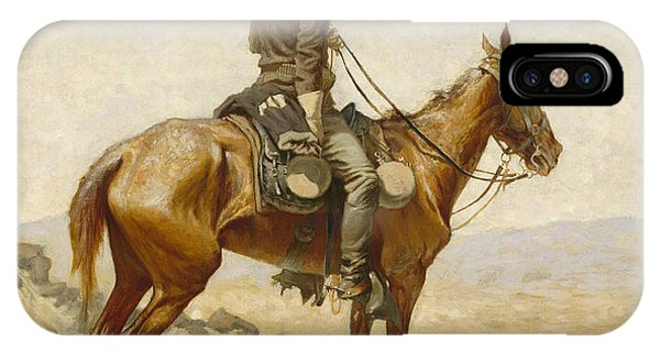 American Southwest iPhone Case - The Lookout by Frederic Remington