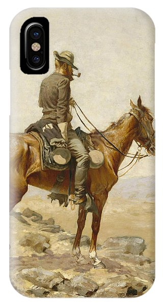 Horse iPhone X Case - The Lookout by Frederic Remington