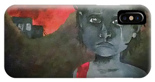 IPhone Case featuring the digital art The Lost Children Of Aleppo by Joseph Hendrix