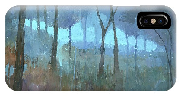 IPhone Case featuring the painting The Lost Trail by Steve Mitchell