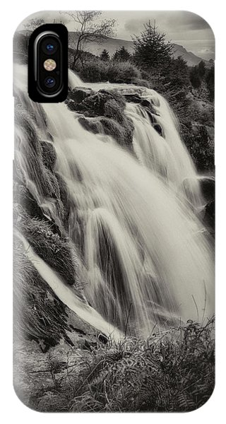 IPhone Case featuring the photograph The Loup Of Fintry In Black And White by Jeremy Lavender Photography