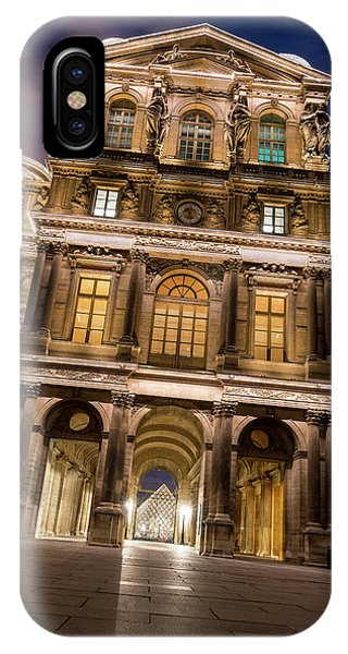 The Louvre iPhone Case - The Louvre Museum At Night by James Udall
