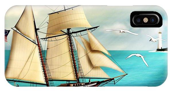 The Lynx Tall Ship IPhone Case