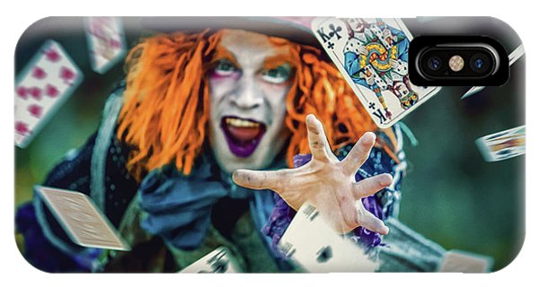 IPhone Case featuring the photograph The Mad Hatter Alice In Wonderland by Dimitar Hristov