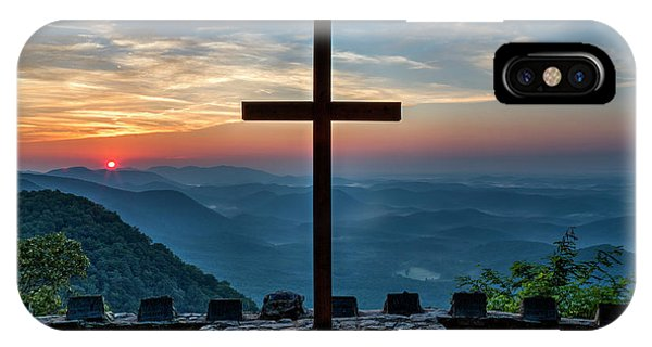 The Magnificent Cross Pretty Place Chapel Greenville Sc Great Smoky Mountains Art IPhone Case