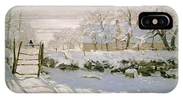 Magpies iPhone Case - The Magpie by Claude Monet