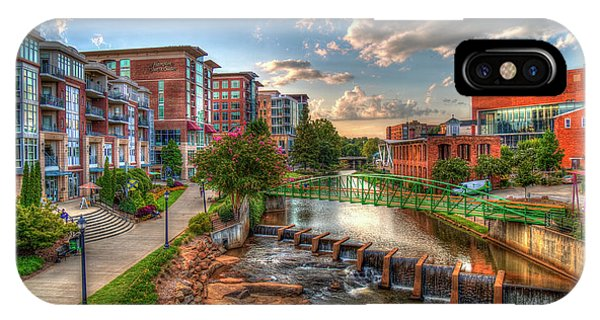 The Main Attraction Reedy River Greenville South Carolina Art IPhone Case