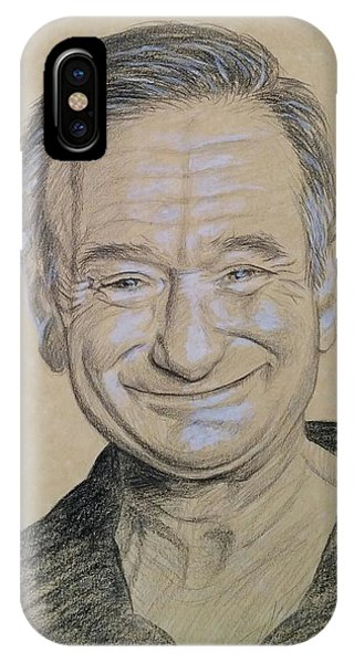 Robin Williams Comedian iPhone Case - The Man With The Smile by Jennifer Hotai