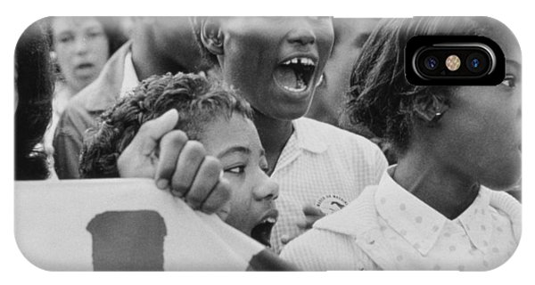 Equal Rights iPhone Case - The March On Washington   A Group From Detroit by Nat Herz