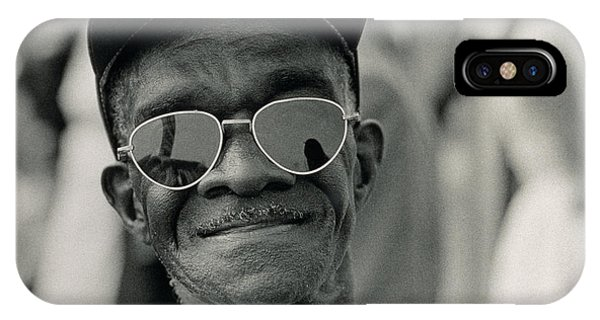 Equal Rights iPhone Case - The March On Washington  A Smiling Man At Washington Monument Grounds by Nat Herz
