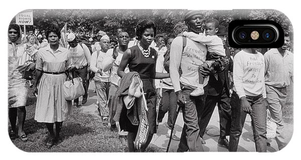 Equal Rights iPhone Case - The March On Washington  Freedom Walkers by Nat Herz