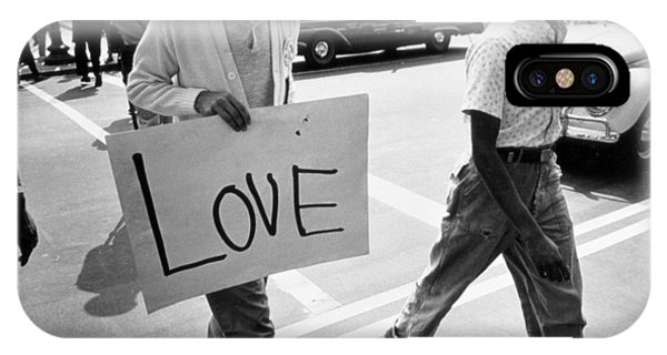 Equal Rights iPhone Case - The March On Washington   Love by Nat Herz