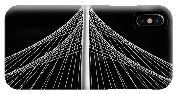 IPhone Case featuring the photograph The Margaret Hunt Hill Bridge In Dallas by Robert Bellomy