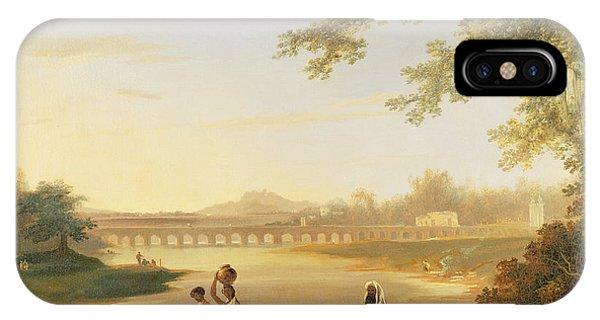 British Empire iPhone Case - The Marmalong Bridge by William Hodges