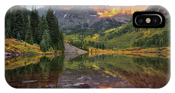 The Maroon Bells At Dawn IPhone Case