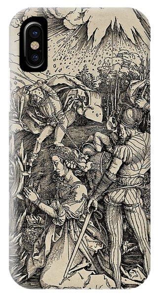 Albrecht Durer iPhone Case - The Martyrdom Of St. Catherine Of Alexandria by Albrecht Durer