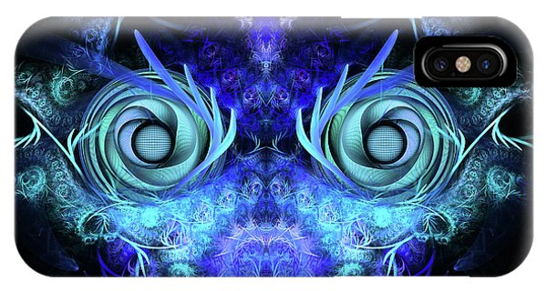 Abstract Digital iPhone Case - The Mask by John Edwards