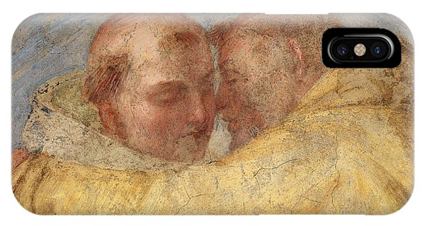 Damage iPhone Case - The Meeting Of St Francis And St Dominic  by Fra Bartolommeo