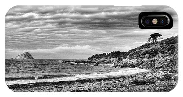 Sky iPhone Case - The Mewstone, Wembury Bay, Devon #view by John Edwards