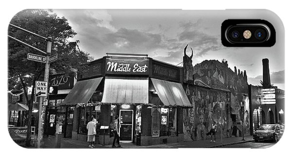 The Middle East In Central Square Cambridge Ma Black And White IPhone Case