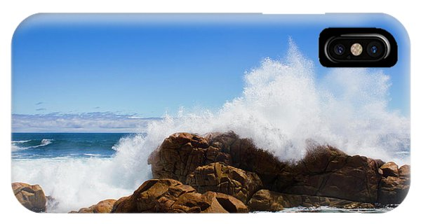 Stone Wall iPhone Case - The Might Of The Ocean by Jorgo Photography - Wall Art Gallery