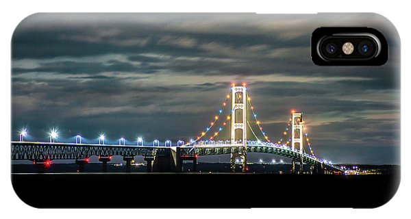IPhone Case featuring the photograph The Mighty Mack At Night by Onyonet  Photo Studios