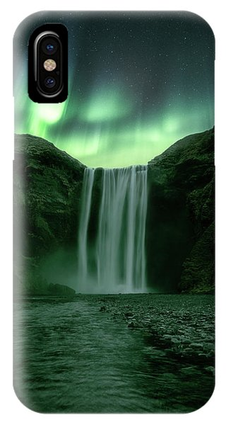 Waterfall iPhone Case - The Mighty Skogafoss by Tor-Ivar Naess