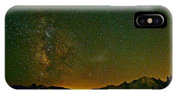 The Milky Way And Mt. Rainier IPhone Case