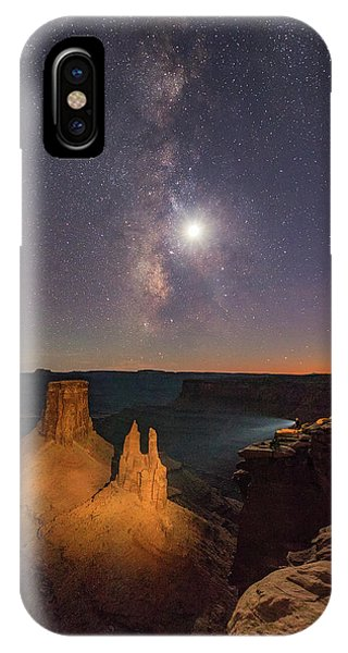 The Milky Way And The Moon From Marlboro Point IPhone Case