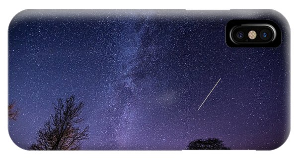The Milky Way Over Strata Florida Abbey, Ceredigion Wales Uk IPhone Case