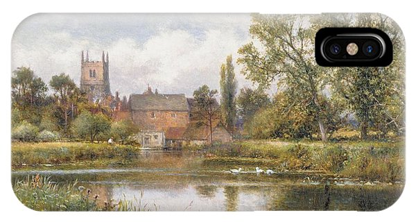 English Village iPhone Case - The Millpond by Alfred Glendening