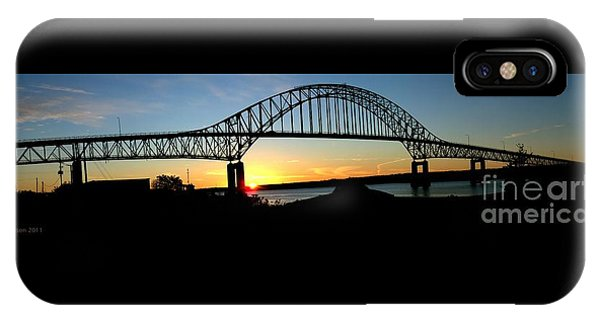 The Miramichi Bridge Sunset  IPhone Case