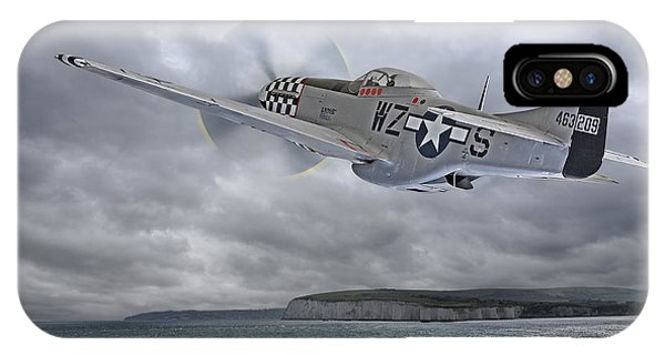 The Mission - P51 Over Dover IPhone Case