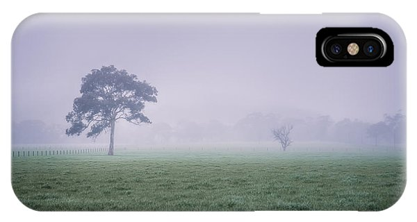 IPhone Case featuring the photograph The Mist Settles by Ray Warren