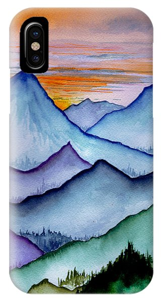The Misty Mountains IPhone Case