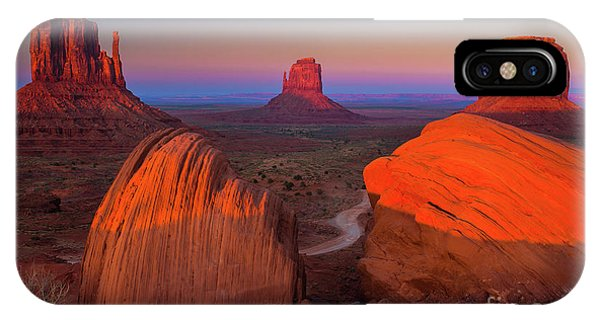 Orange Sunset iPhone Case - The Mittens by Inge Johnsson