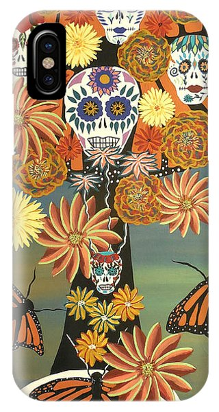 The Monarch's Tree Of Life And The Dead - Day Of The Dead IPhone Case
