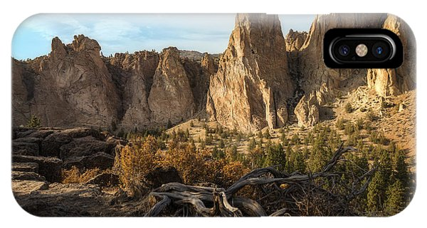The Monument At Smith Rock IPhone Case