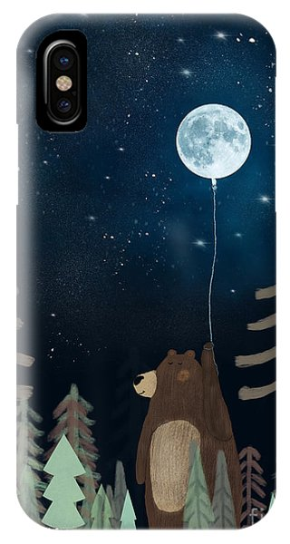 Solar System iPhone Case - The Moon Balloon by Bri Buckley