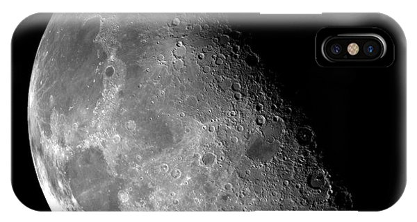 Half Moon iPhone Case - The Moon by Edward Fielding