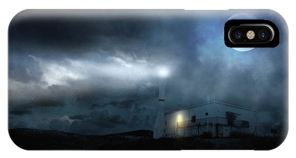 Lighthouse Wall Decor iPhone Case - The Moon Touches Your Shoulder by Zapista Zapista