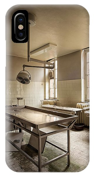 the morgue autopsy table - Urban exploration IPhone Case